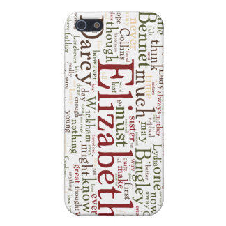 Pride and Prejudice Word Cloud Covers For iPhone 5