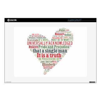 Pride and Prejudice Word Cloud Decals For Laptops