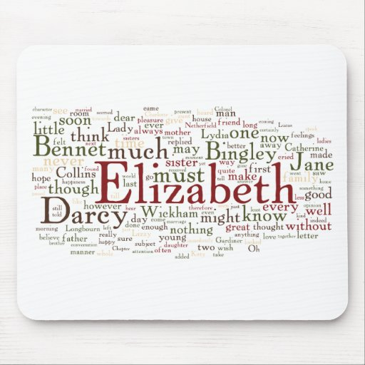 Pride and Prejudice Word Cloud Mouse Pads