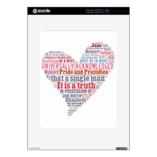 Pride and Prejudice Word Cloud Pink Skin For The iPad