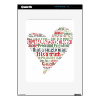 Pride and Prejudice Word Cloud Skins For iPad
