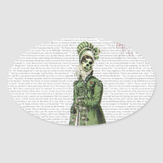 Pride and Prejudice - Zombified Oval Stickers