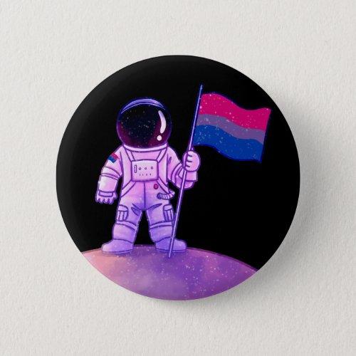 Pride Astronaut Bi Button