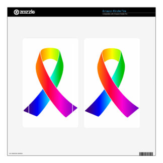 Pride Awareness Rainbow Ribbon gifts Kindle Fire Decal