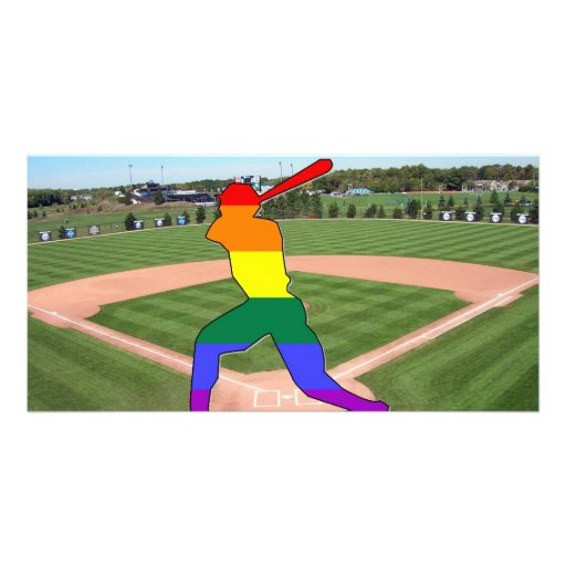 Pride Baseball Customized Photo Card