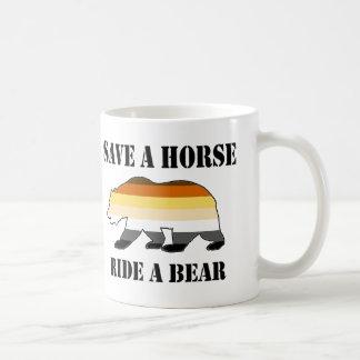 Pride Bear Pride save a Horse Ride a Bear Classic White Coffee Mug