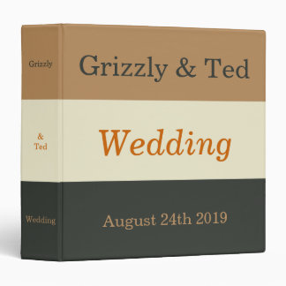 Pride Bear Wedding Album Gift for Gay Grooms 3 Ring Binder