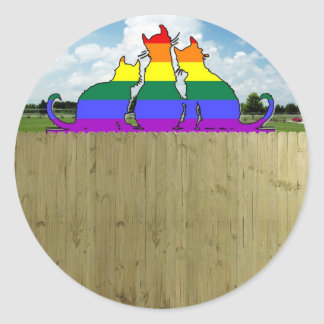 Pride Cats Round Sticker