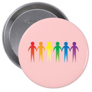 Pride Chain Pinback Button