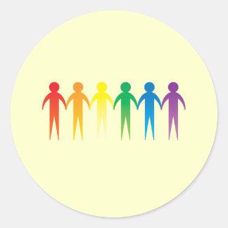 Pride Chain Round Sticker