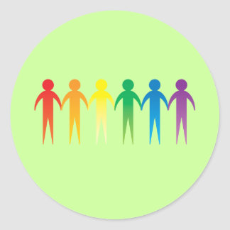 Pride Chain Round Stickers