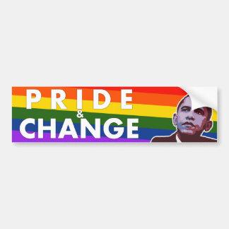 Pride & Change - Obama Political Bumper Sticker Car Bumper Sticker