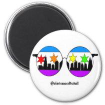 pride chicaGOggles sticker Magnet