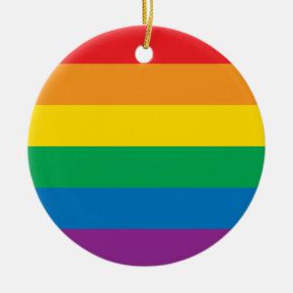 Pride | Colorful Rainbow Design Ceramic Ornament