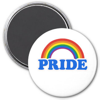 Pride Colors 3 Inch Round Magnet