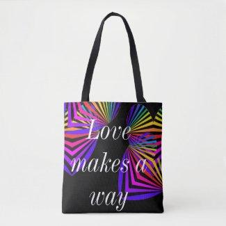 PRIDE Diversity Rainbow Love Makes a Way Bags