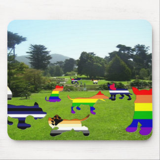 Pride Dog Park #1 Mouse Pad