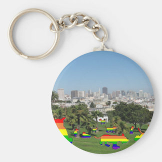 Pride Dogs of Dolores Park Keychain