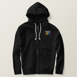 Pride Embroidered Classic Sherpa-lined Zip Hoodie