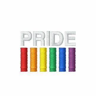 Pride Embroidered Ladies Sherpa-lined Zip Hoodie