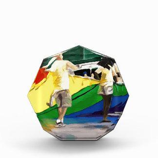 Pride Flag in Parade Acrylic Award