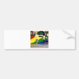 Pride Flag in Parade Bumper Sticker