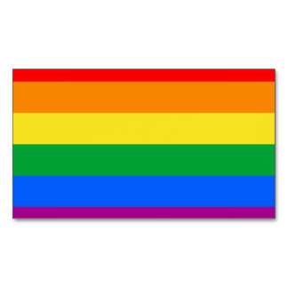 Pride Flag Magnetic Business Cards (Pack Of 25)