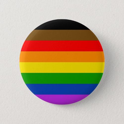 PRIDE flag (PoC inclusive) Button