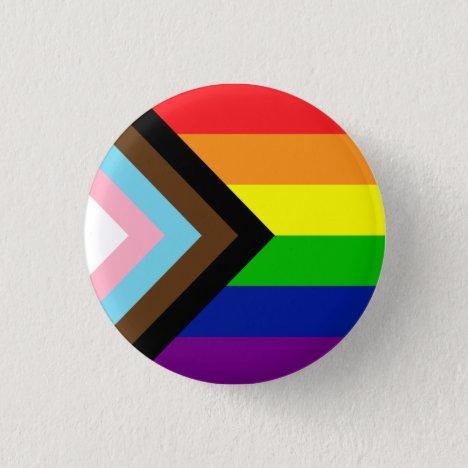 Pride Flag Reboot - trans and POC inclusive Button