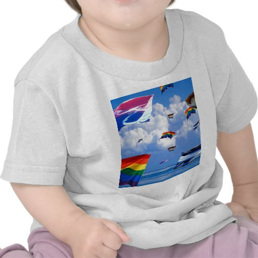 Pride Flags Flying Over the Sea Tee Shirt