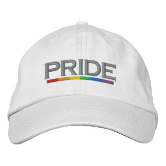 PRIDE Gay Pride Rainbow Flag Cool and Modern Embroidered Baseball Cap
