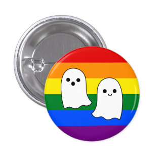 Pride Ghosts Pinback Button