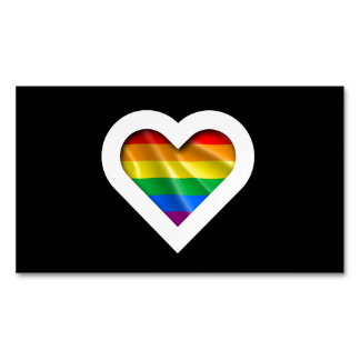 Pride Heart Magnetic Business Cards (Pack Of 25)