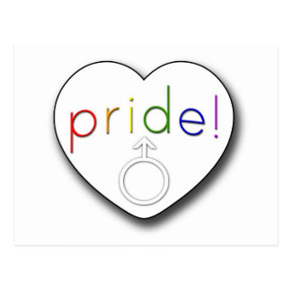 Pride Heart Postcard