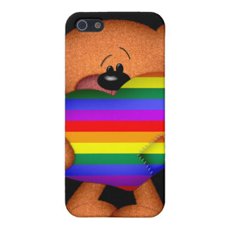 Pride Heart Teddy Bear Cover For iPhone SE/5/5s