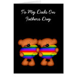 Pride Heart Teddy Bear Fathers Day Card
