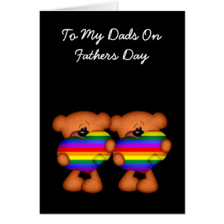 Pride Heart Teddy Bear Fathers Day Greeting Card
