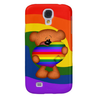 Pride Heart Teddy Bear Galaxy S4 Case