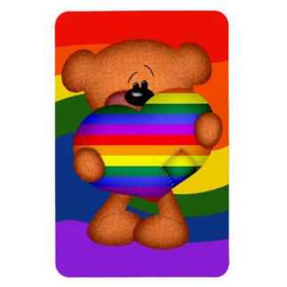 Pride Heart Teddy Bear Magnet