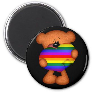 Pride Heart Teddy Bear Magnet