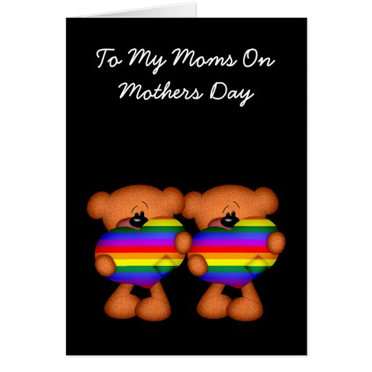 Pride Heart Teddy Bear Mothers Day Card