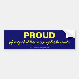 """""""Pride in Child"""" bumper sticker"""