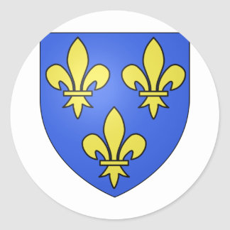 PRIDE IN FRENCH HERITAGE CLASSIC ROUND STICKER