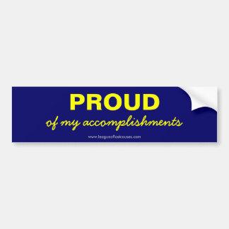 """""""Pride in Self"""" bumper sticker"""