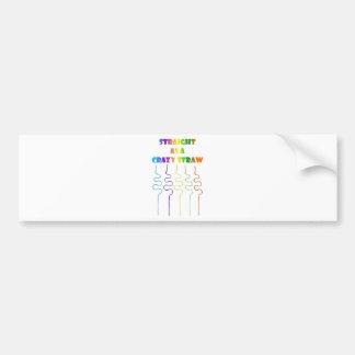 Pride in the Last Straw Bumper Stickers