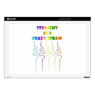 """Pride in the Last Straw Decal For 17"""" Laptop"""