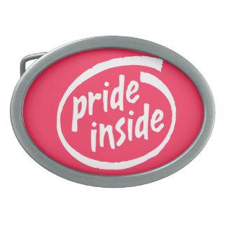 PRIDE INSIDE - .png Oval Belt Buckles