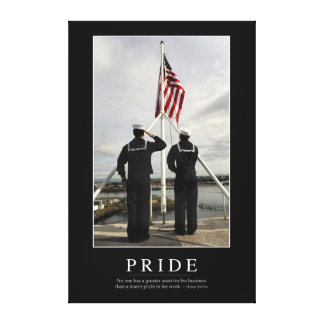 Pride: Inspirational Quote 1 Canvas Print