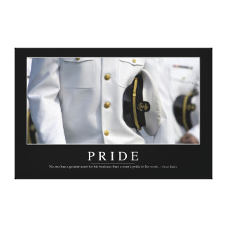 Pride: Inspirational Quote 2 Canvas Print