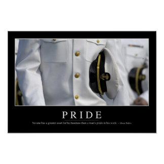 Pride: Inspirational Quote 2 Poster